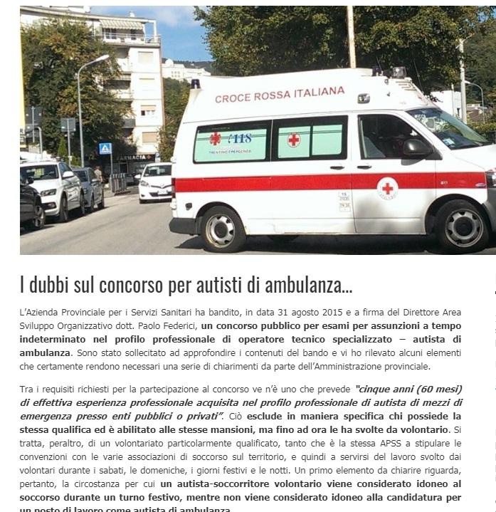 concorso autista ambulanza